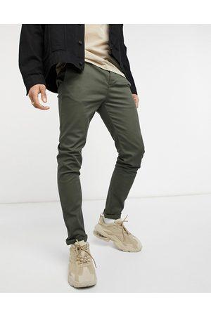 ASOS Pantalon chino ajusté - Kaki