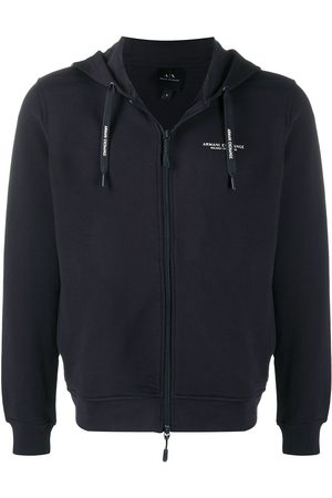 Armani Sweat zippé à capuche à logo imprimé
