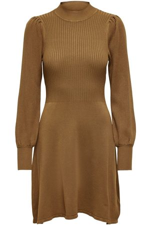 Only Manches Longues Robe En Maille Women Brown