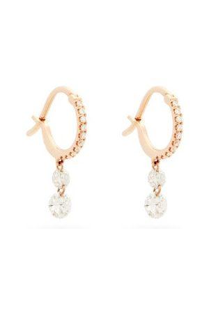 Raphaele Canot Créoles en or rose 18 carats et diamants Set Free
