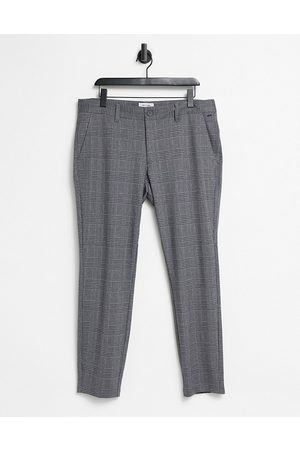 Only & Sons Pantalon coupe slim à carreaux - Gris