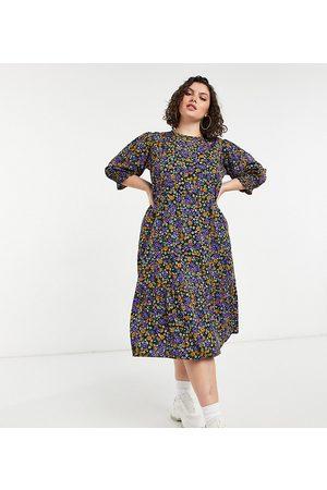Yours Robe babydoll mi-longue à motif floral