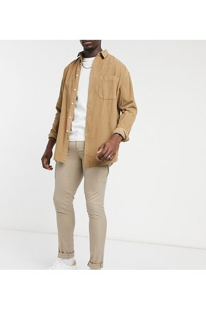 ASOS Tall - Pantalon ajusté habillé à poches cargo-Taupe