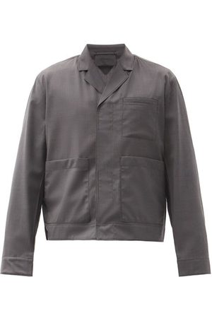 Prada Homme Vestes - Veste en laine à boutonnage simple