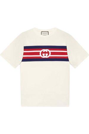 Gucci T-shirt rayé à logo GG