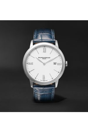 Baume & Mercier Homme Montres - Classima 40mm Steel and Croc-Effect Leather Watch, Ref. No. 10508