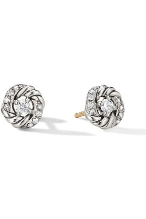 David Yurman Puces d'oreilles en sterling serties de diamants