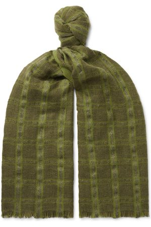 Loro Piana Homme Écharpes & Foulards - Checked Linen and Cashmere-Blend Tweed Scarf