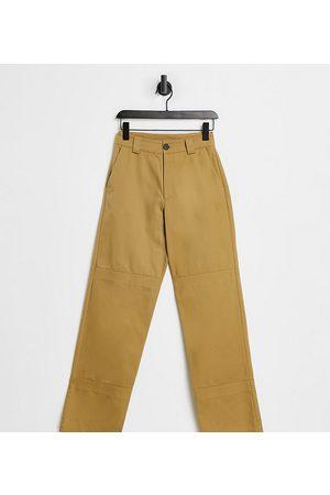 COLLUSION Unisex - Pantalon droit style années 90 en sergé
