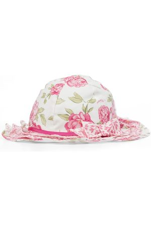 MONNALISA Chapeau en coton à fleurs