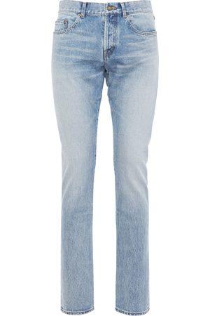 Saint Laurent Jean Slim En Denim De Coton 17 Cm