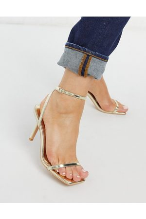 Glamorous Sandales minimalistes à talon - Doré
