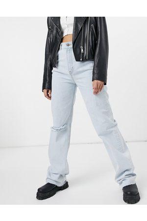 Pull&Bear Femme Baggy & Large - Jean déchiré coupe large style années 90 - clair