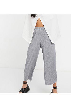 ASOS ASOS DESIGN Petite - Pantalon style jupe-culotte plissé - chiné