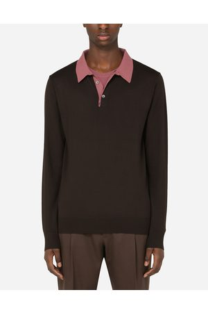 Dolce & Gabbana Pulls - PULL POLO EN LAINE VIERGE male 44