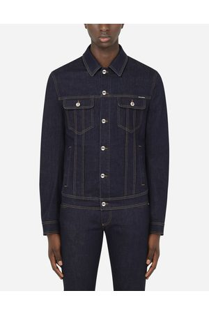 Dolce & Gabbana Collection - BLOUSON EN DENIM STRETCH BLEU À LOGO DG male 44