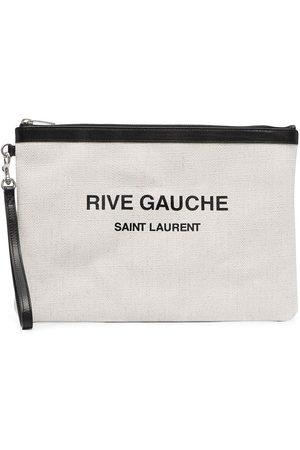 Saint Laurent Pochette à logo imprimé