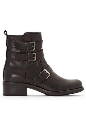 La Redoute Boots motardes en cuir triple sangles