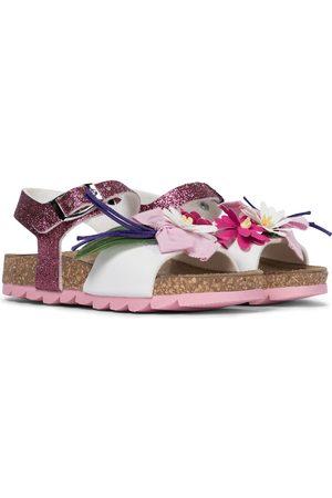 MONNALISA Fille Sandales - Sandales à paillettes en cuir