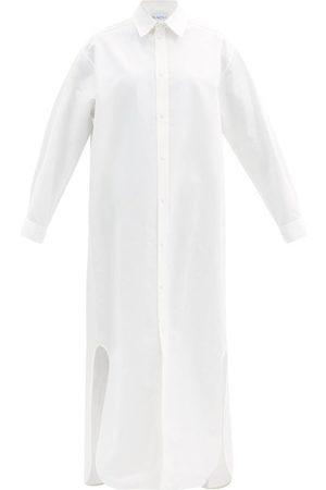 Raey Robe-chemise longue en coton et soie mélangés
