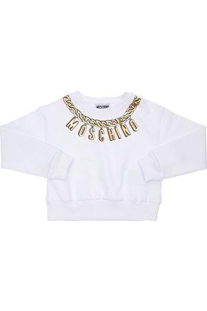 Moschino Sweat-shirt En Coton Imprimé Logo