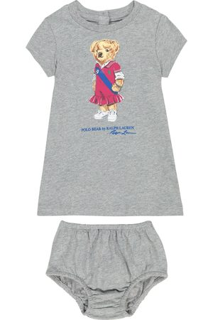 Ralph Lauren Bébé – Ensemble robe et short bloomer Polo Bear en coton
