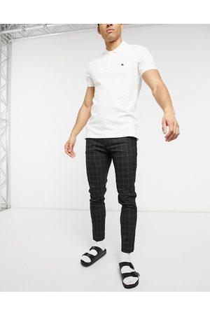 ASOS Pantalon habillé ultra slim - Carreaux noirs