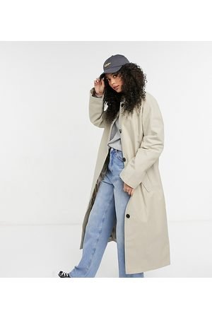 ASOS Tall - Hero - Trench-coat oversize coupe boyfriend - Taupe
