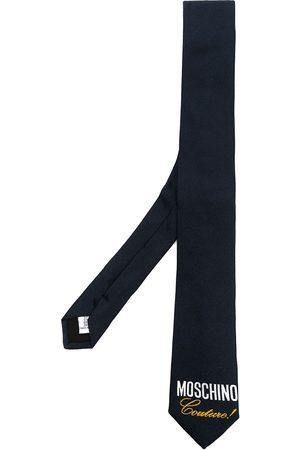 Moschino Cravate en soie à logo imprimé