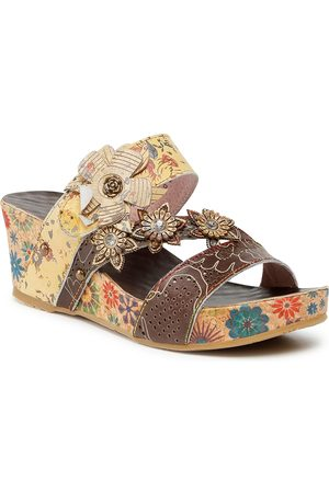 LAURA VITA Mules / sandales de bain - Facdiao 0621 SL80403-6D Taupe