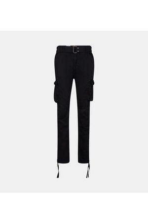 Schott NYC Pantalon cargo droit coton ceinturé