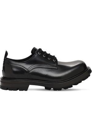 Alexander McQueen Chaussures À Lacets En Cuir Verni