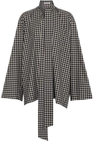 Balenciaga Blouse en coton mélangé à carreaux
