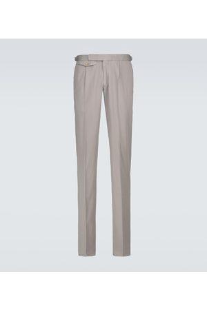 Incotex Pantalon chino slim en coton mélangé