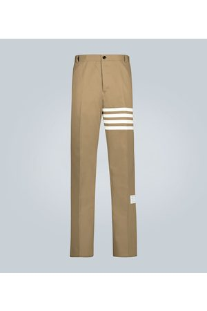 Thom Browne Pantalon 4-bar en sergé de coton
