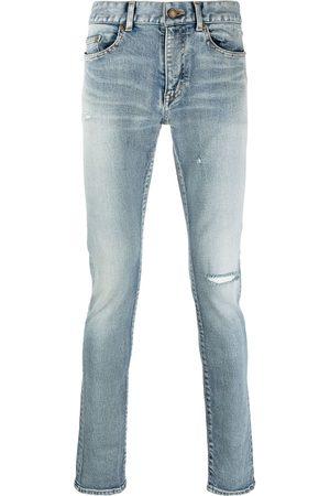 Saint Laurent Jean skinny à détail usé