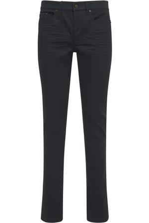 Saint Laurent Jean Skinny Taille Basse En Denim De Coton 15 Cm