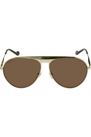 GUCCI Gg0908s Pilot Metal Sunglasses