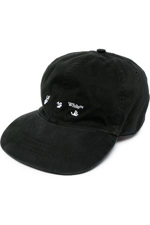 OFF-WHITE OW LOGO BASEBALL CAP BLACK WHITE