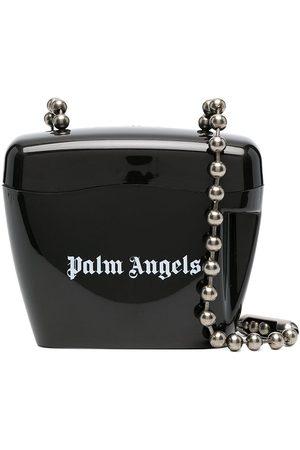 Palm Angels MINI PADLOCK BAG BLACK WHITE