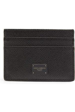 Dolce & Gabbana Porte-cartes en cuir grainé à imprimé logo