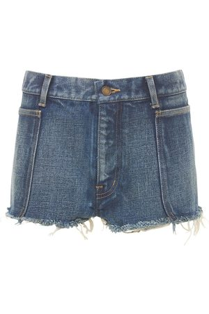 Saint Laurent Femme Shorts - Mini-short En Denim De Coton
