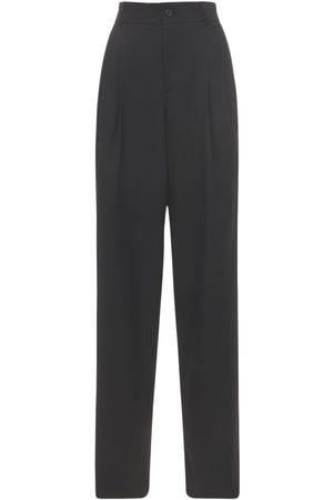 Saint Laurent Femme Pantalons classiques - Pantalon Ample En Laine Grain De Poudre