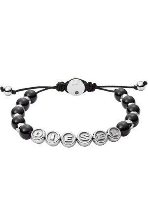 Diesel Stainless Steel Semi-Precious Beaded Bracelet en black - pour dames