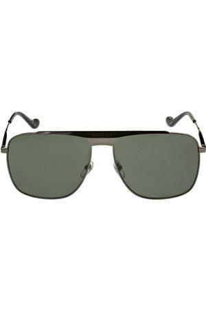 Gucci Gg0909s Squared Pilot Metal Sunglasses