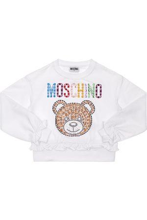 Moschino Sweat-shirt En Coton Et Sequins