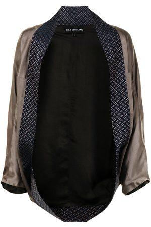 Lisa Von Tang Veste façon kimono à design ouvert