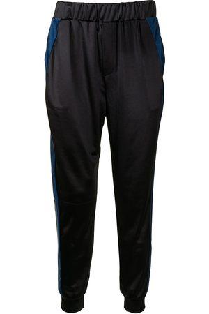 Lisa Von Tang Pantalon de jogging à bandes contrastantes