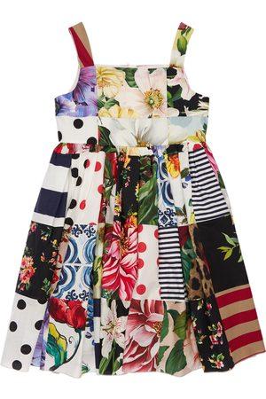 Dolce & Gabbana Robe De Soirée En Patchwork De Coton