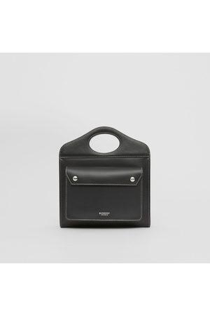 Burberry Femme Cabas - Mini sac Pocket en cuir surpiqué